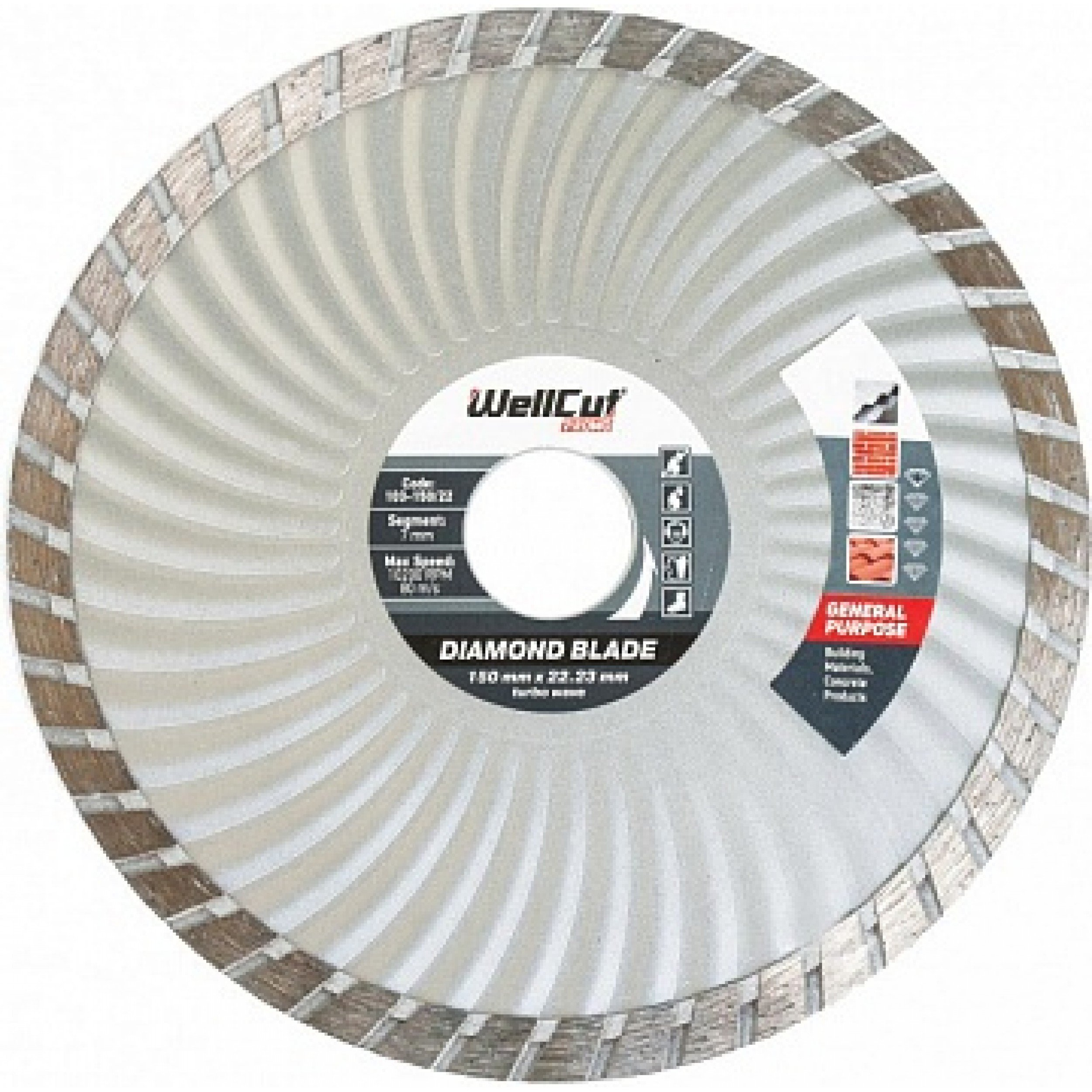 Disc diamant segment Turbo+ Segment Standart Wellcut 125x7x22.23