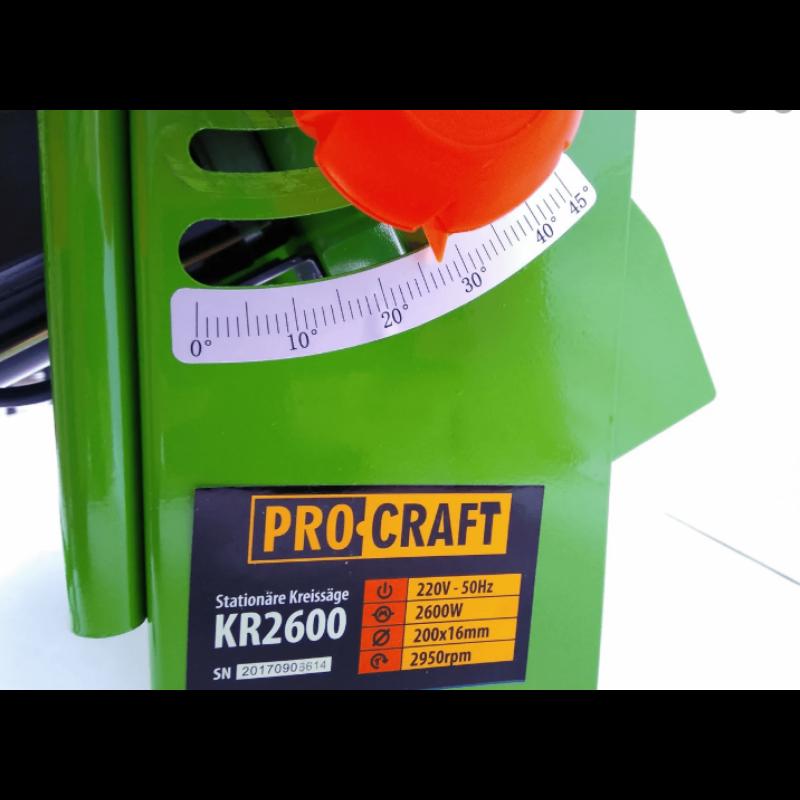 Ferastraie circulare staționar Procraft KR-2600