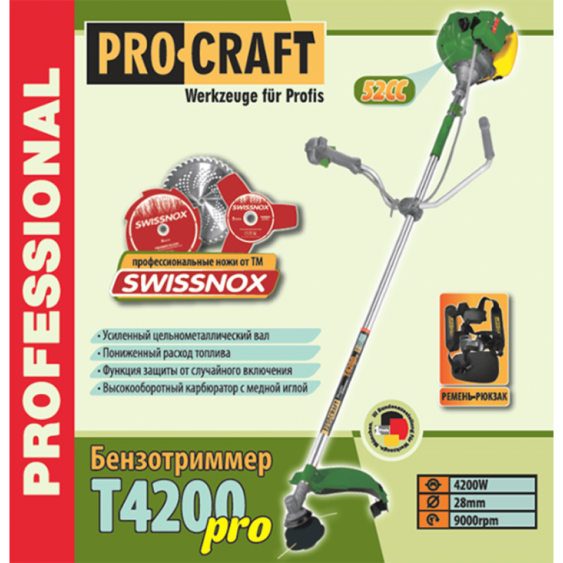 Motocoasa ProCraft T4200 Pro