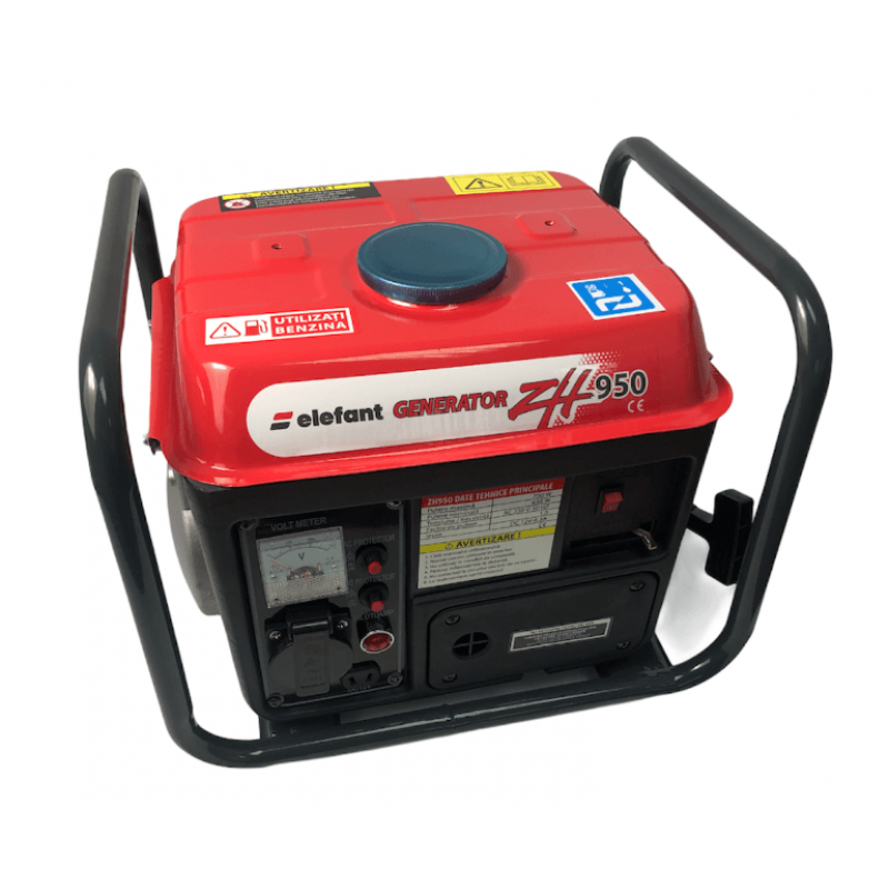 Generator pe Benzina Elefant ZH 950, Monofazat, 700 W, 230 V, 1 Cilindru, Motor 2 timpi, 1 CP