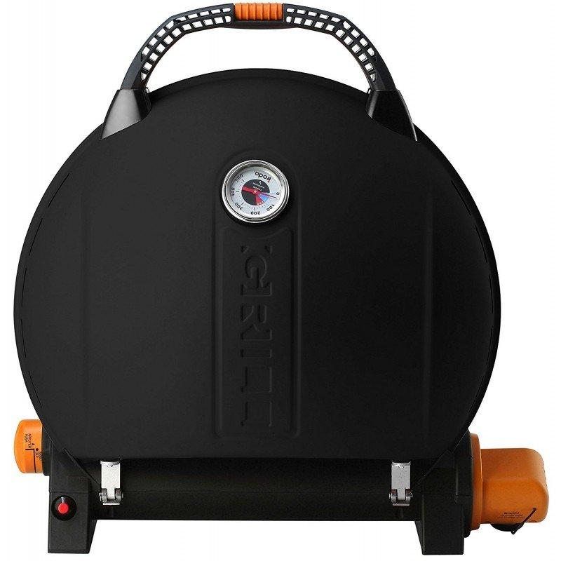 Grătar pe gaz O-GRILL 900T, Negru