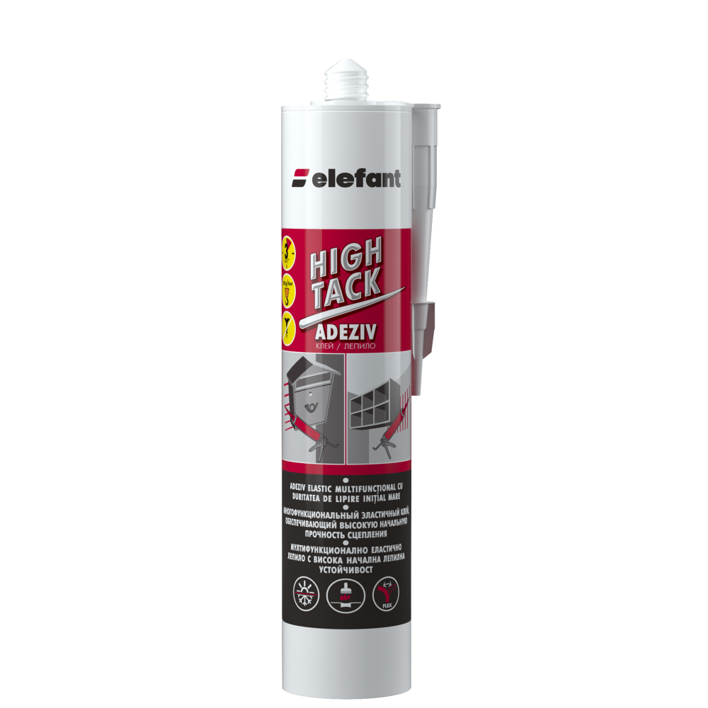 Elefant Adeziv poliuretanic Hightack alb (Hightack White) 290ml